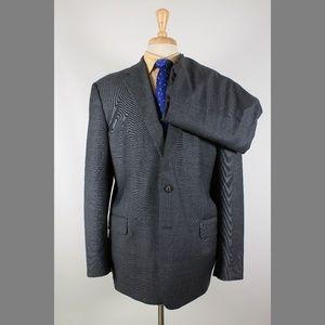 Joseph Abboud 46R 37x29 Flat Front Suit B601